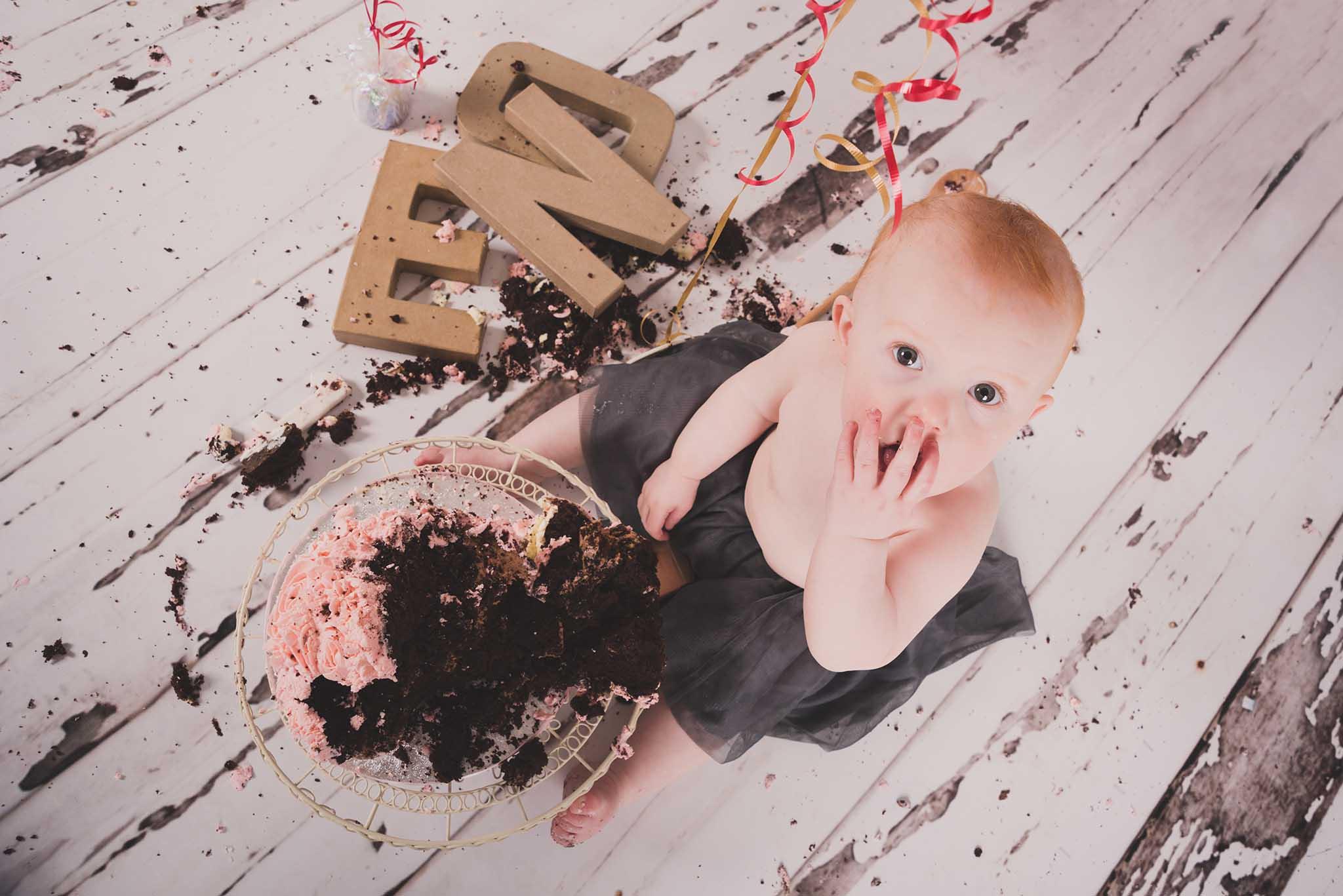 Louth Photographer: Mollie's birthday cake smash